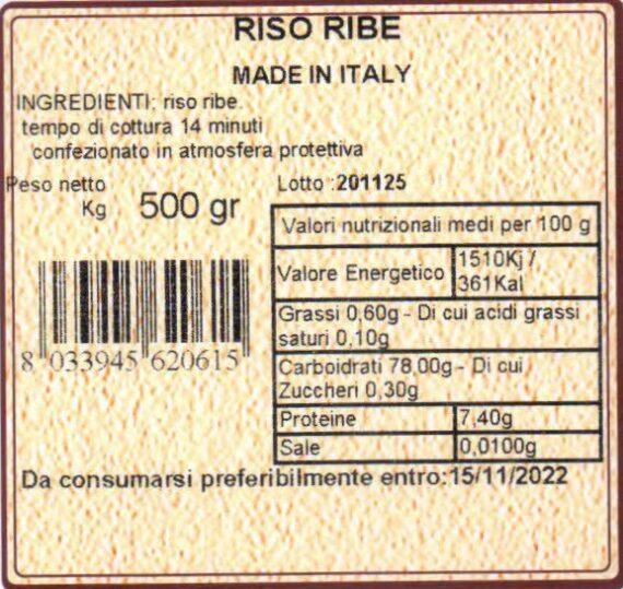 cascina mirani Riso ribe 500gr