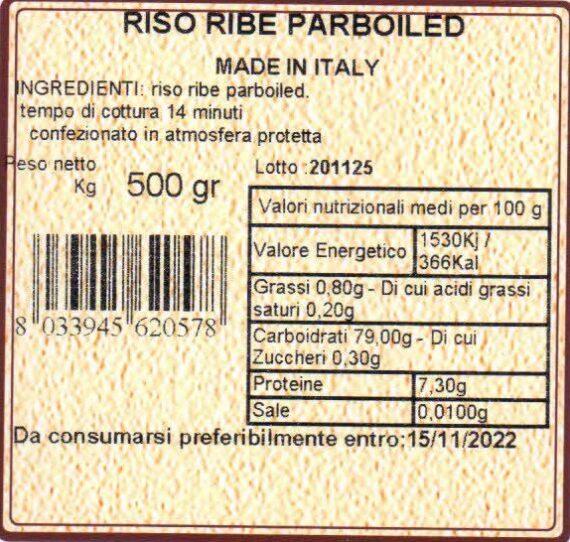 cascina mirani Riso ribe parboiled 500gr