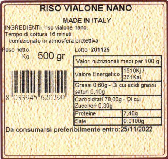 Cascina mirani Riso vialone nano 500gr